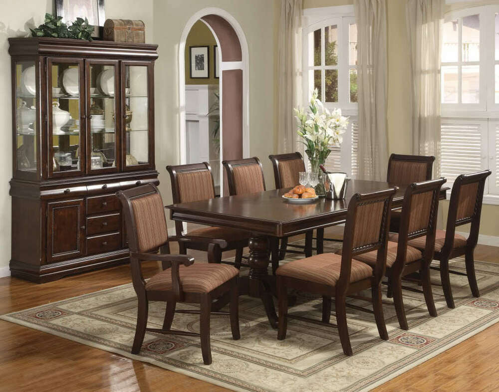 Best ideas about Dining Table And Chair Set . Save or Pin Merlot 7 Piece Formal Dining Room Set Table 4 Side Chairs Now.