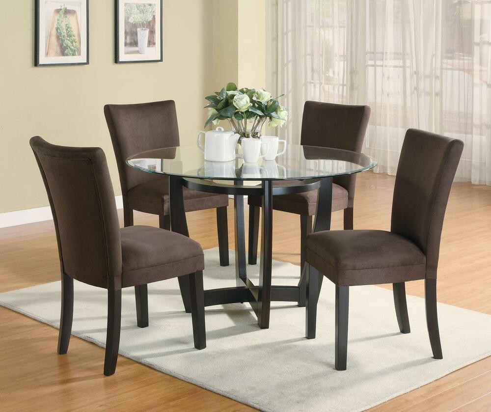 Best ideas about Dining Table And Chair Set . Save or Pin STYLISH 5 PC DINETTE DINING TABLE & PARSONS DINING ROOM Now.