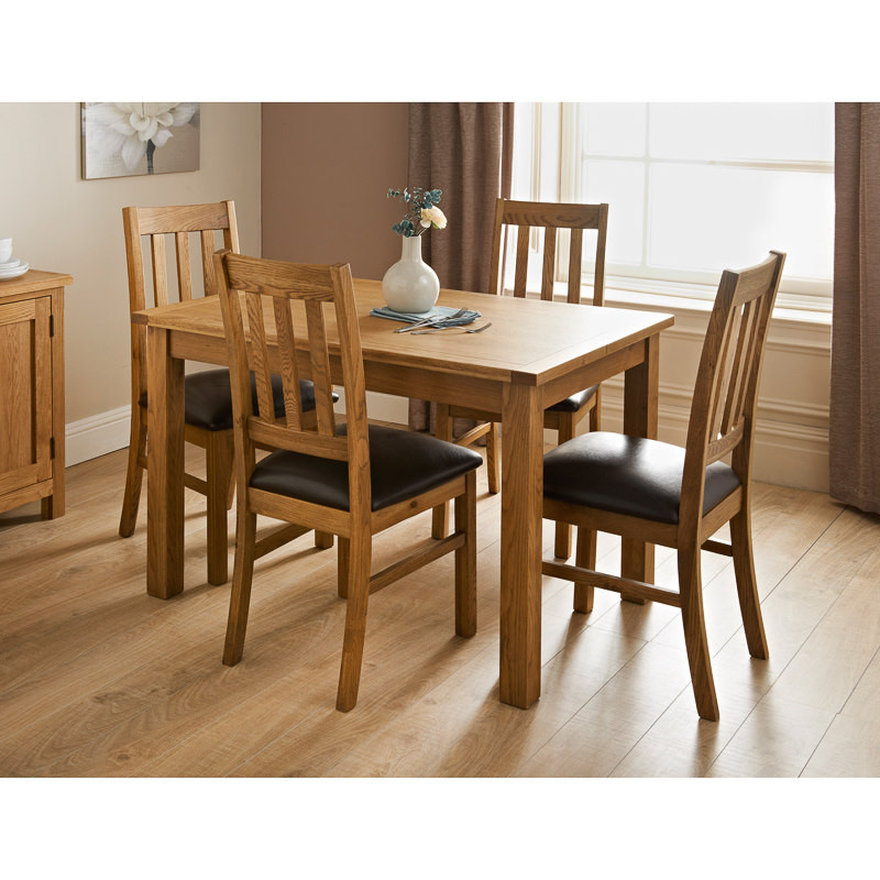 Best ideas about Dining Table And Chair Set . Save or Pin Hampshire Oak Dining Set 7pc Now.