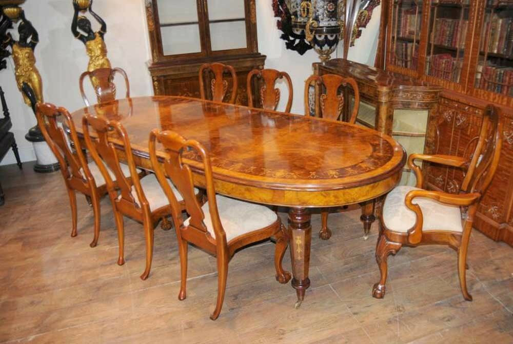 Best ideas about Dining Table And Chair Set . Save or Pin Walnut Victorian Dining Table Queen Anne Chair Set Now.