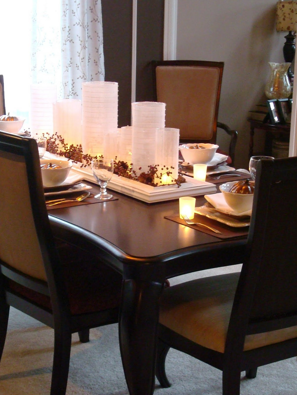 Best ideas about Dining Table Centerpiece Ideas . Save or Pin Dining Table Decor for Perfect Dinner Traba Homes Now.
