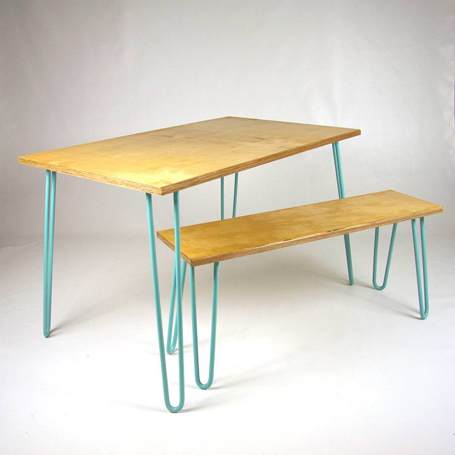 Best ideas about Dining Table Legs . Save or Pin dining table industrial hairpin legs plywood by cord Now.