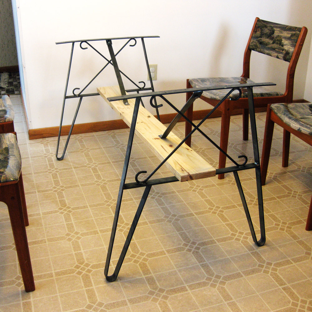 Best ideas about Dining Table Legs . Save or Pin Metal Dining Table Leg Set Create A Top Use Flat Iron Now.