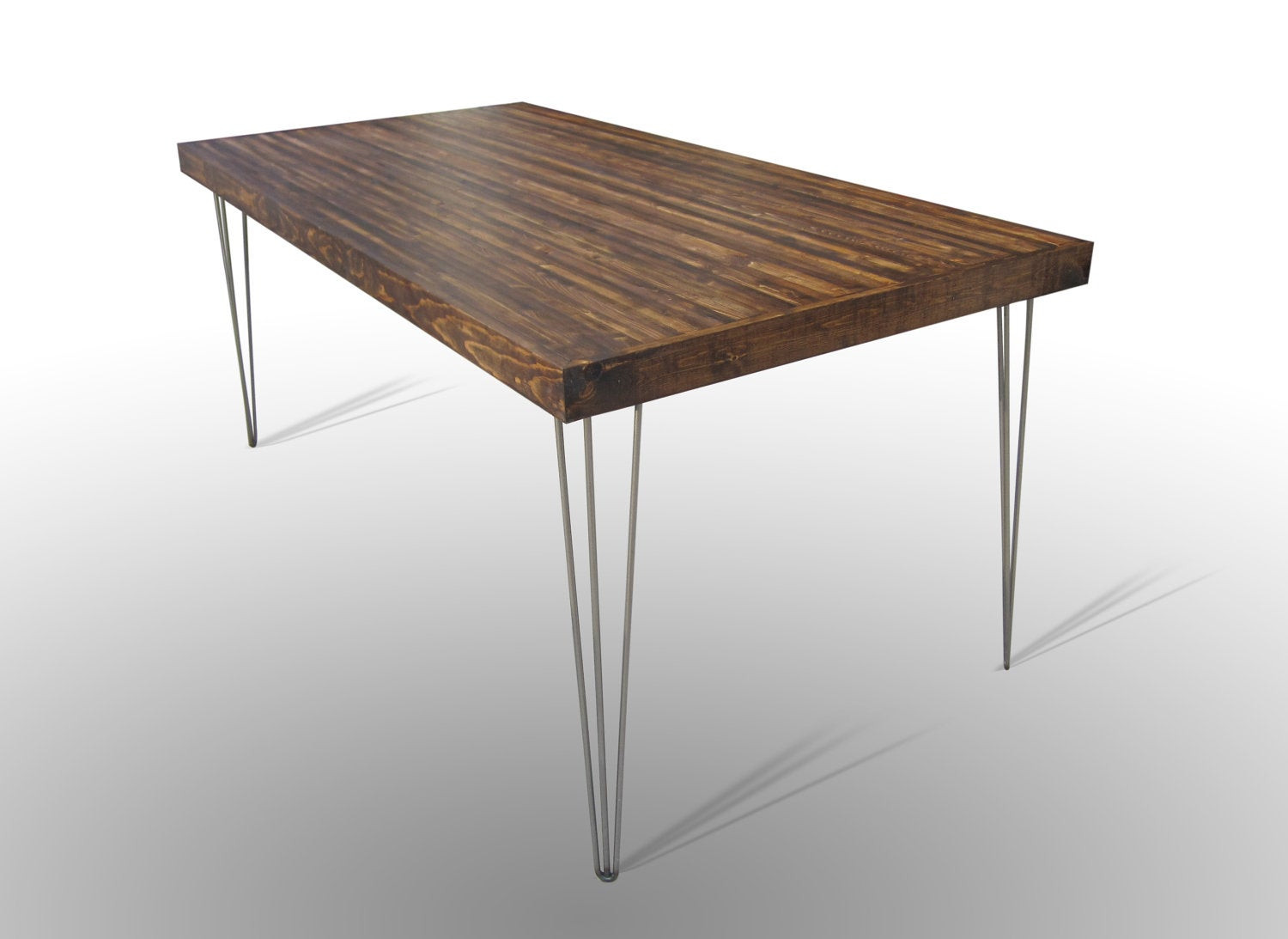Best ideas about Dining Table Legs . Save or Pin 72x36 Dining Table With Hairpin Legs Harvest Dark Ale Now.