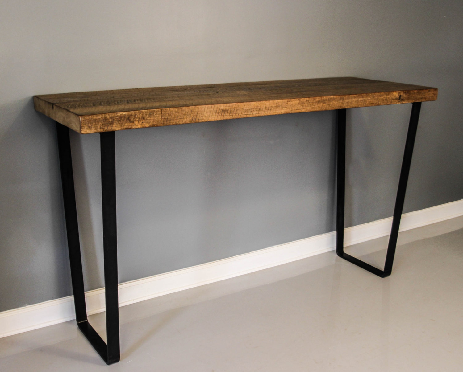 Best ideas about Dining Table Legs . Save or Pin Dining Table Steel Leg Table Reclaimed Planks Solid by Now.