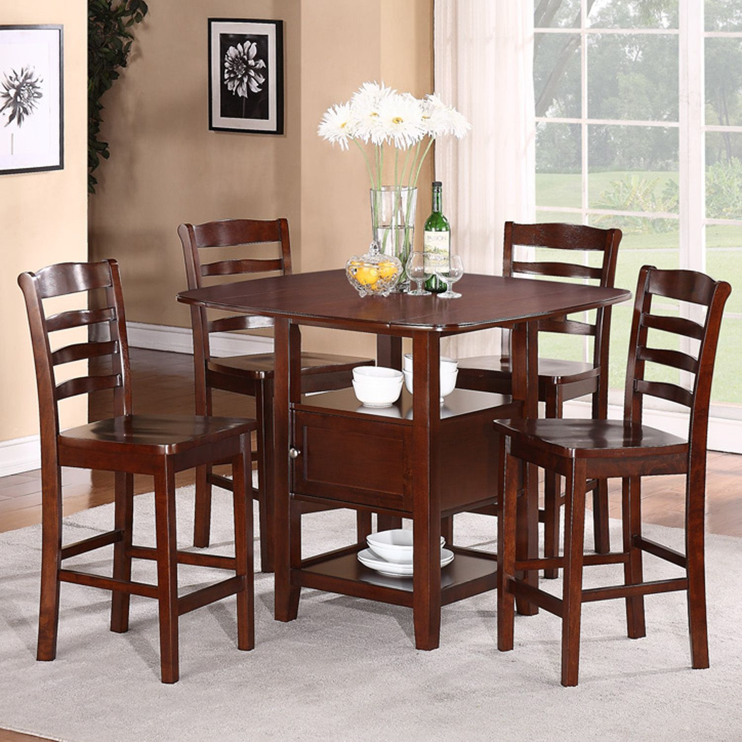 Best ideas about Dining Table Sets . Save or Pin 5pc Dining Set with Storage Now.