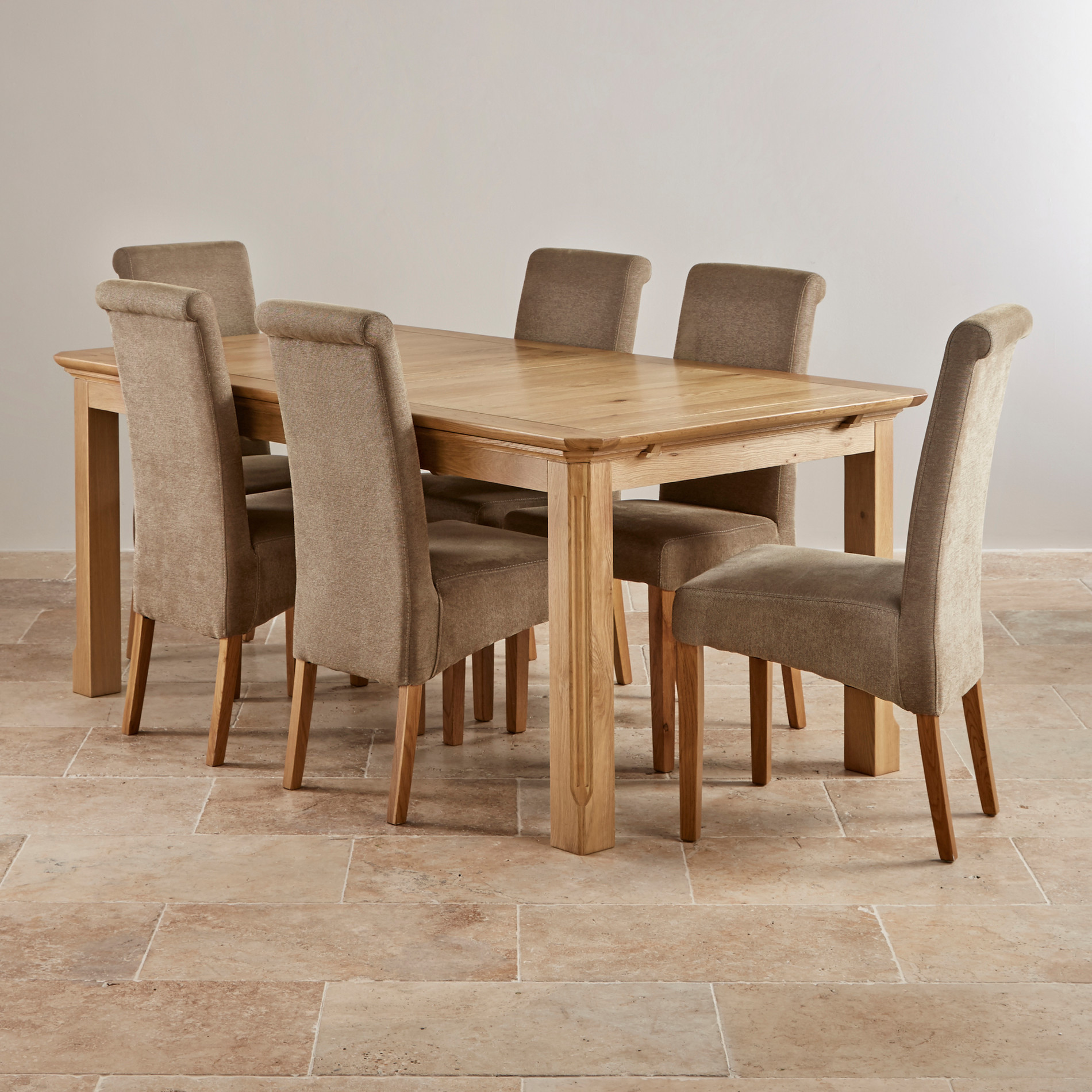 Best ideas about Dining Table Sets . Save or Pin Edinburgh Natural Solid Oak Dining Set 6ft Extending Now.