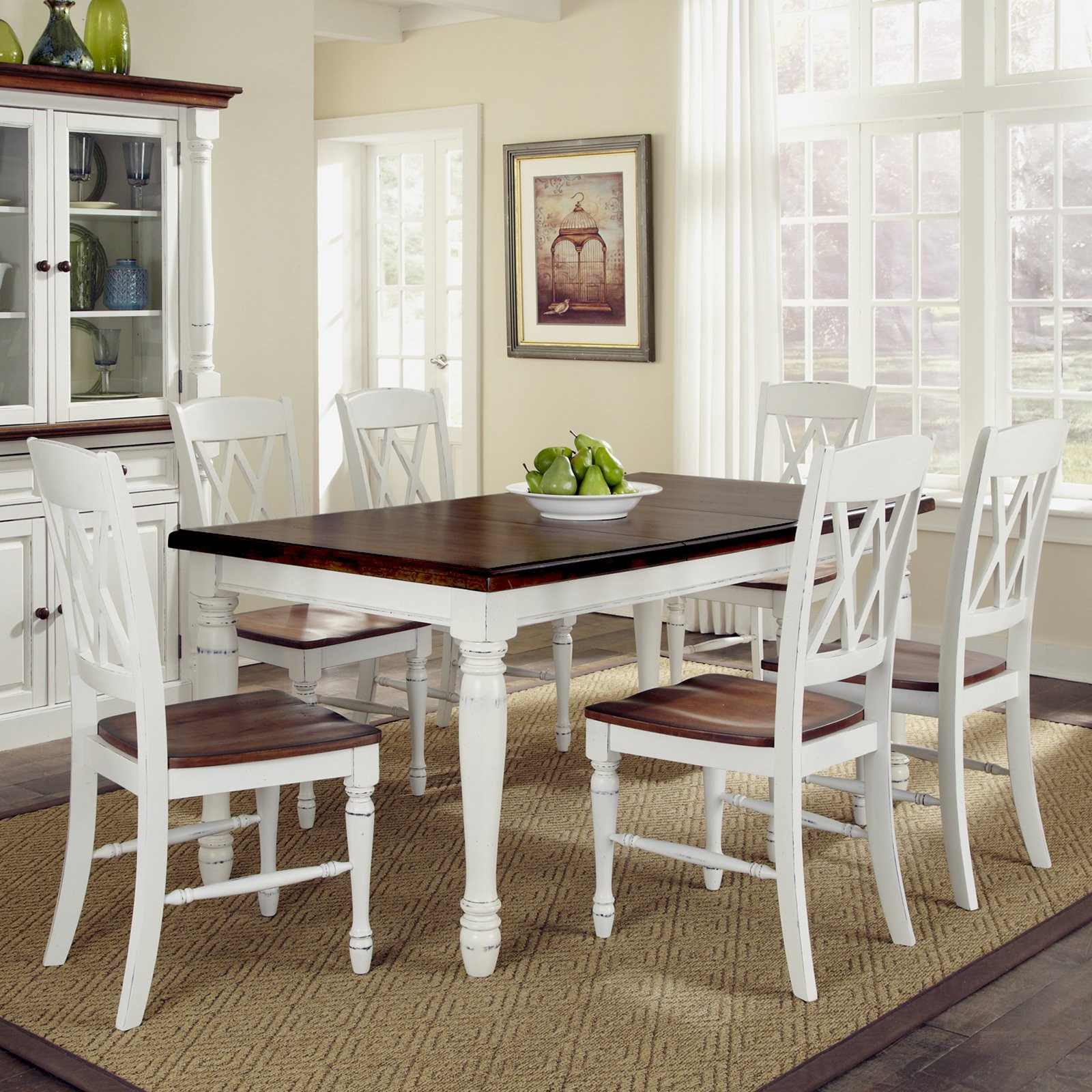 Best ideas about Dining Table Sets . Save or Pin Home Styles Monarch 7 Piece Dining Table Set with 6 Double Now.