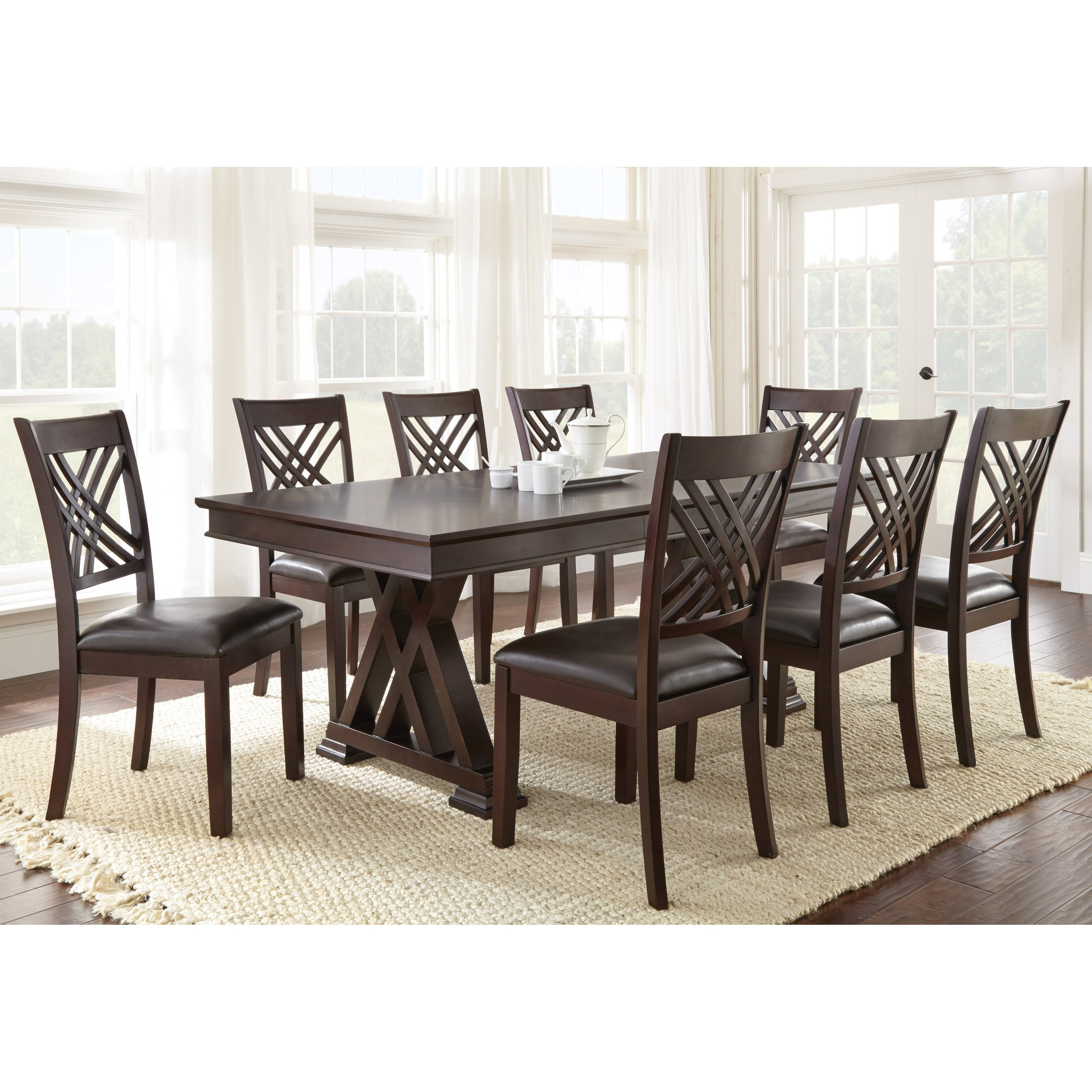 Best ideas about Dining Table Sets . Save or Pin Steve Silver 9 Piece Adrian Dining Table Set Dining Now.