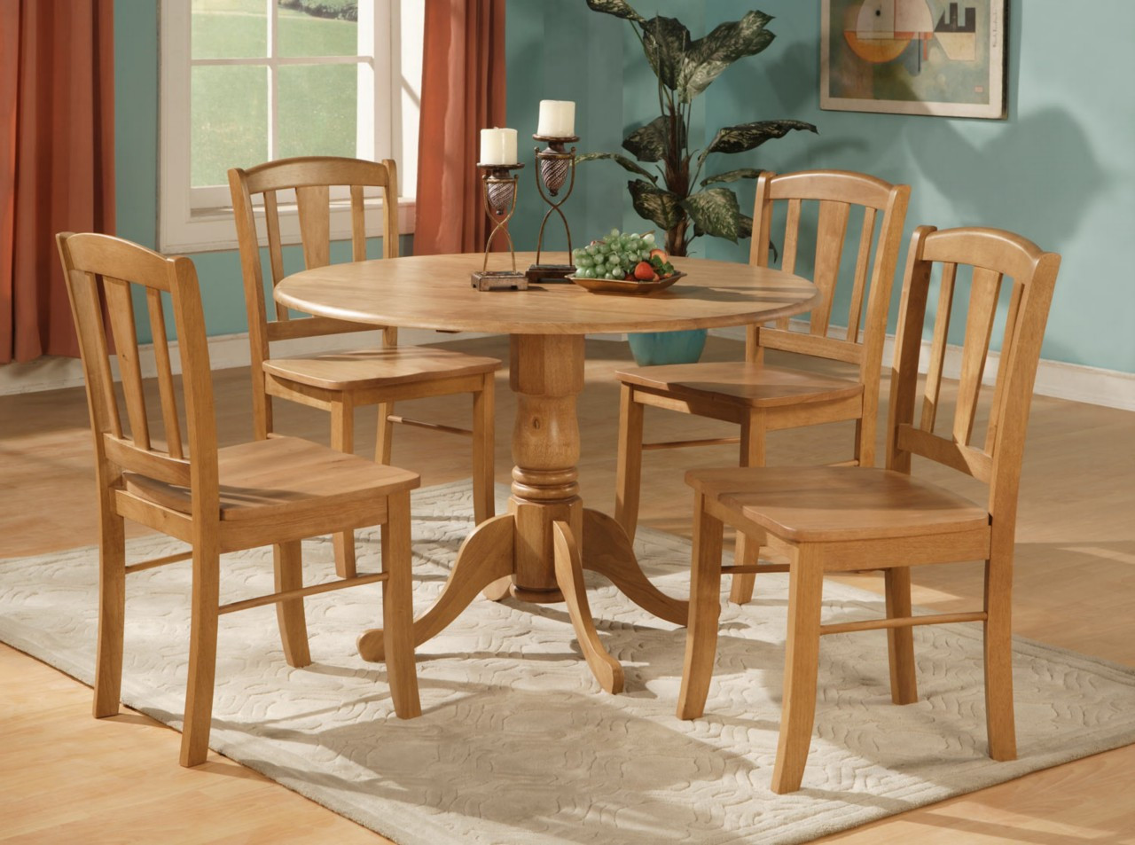 Best ideas about Dining Table Sets . Save or Pin 5PC ROUND DINETTE KITCHEN DINING SET TABLE AND 4 CHAIRS Now.