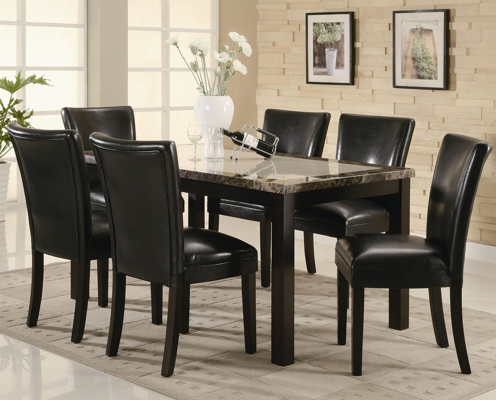 Best ideas about Dining Table Sets . Save or Pin Coaster Carter Brown Wood And Marble Dining Now.