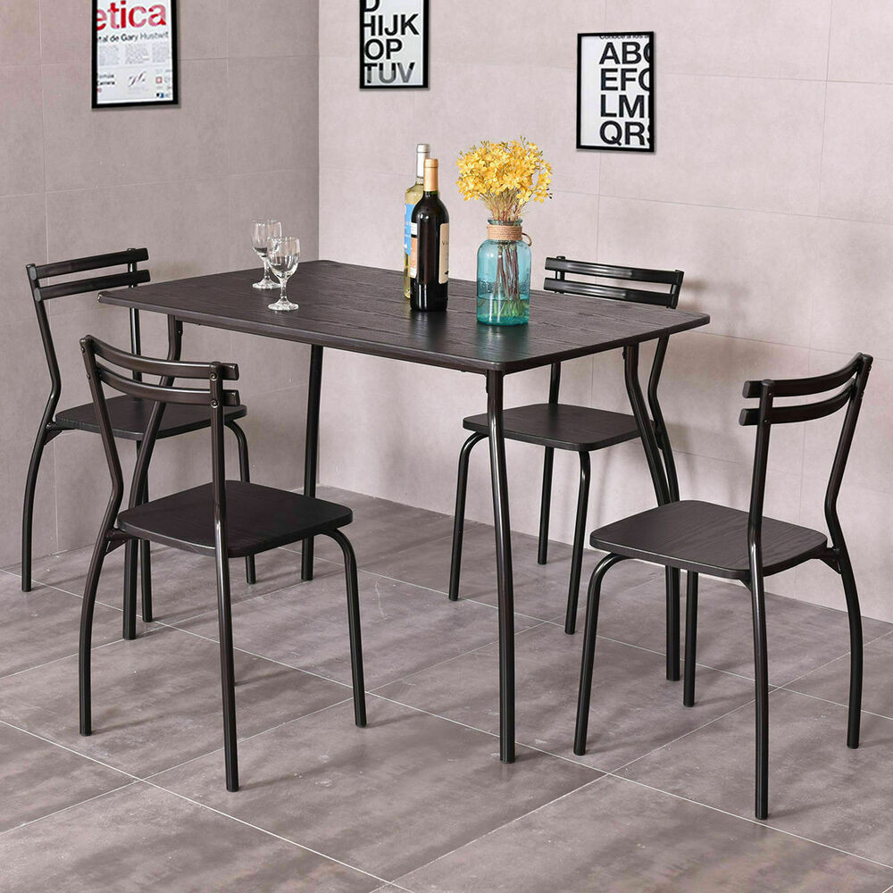 Best ideas about Dining Table Sets . Save or Pin 5 PCS Dining Set Table And 4 Chairs Home Kitchen Room Now.