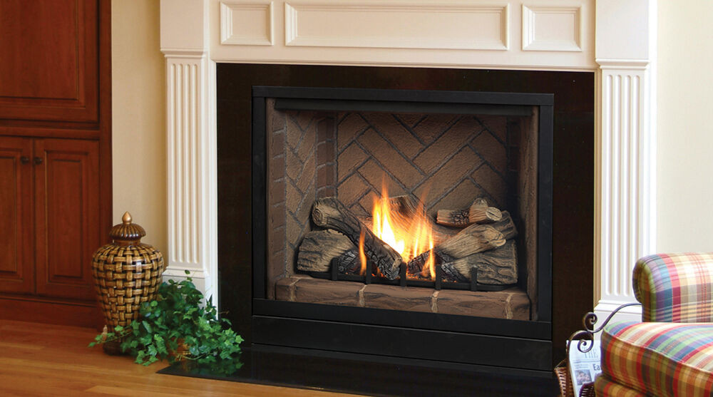 """Best ideas about Direct Vent Gas Fireplace . Save or Pin Majestic BLDV300 33"""" Solitaire Top Direct Vent Fireplace Now."""