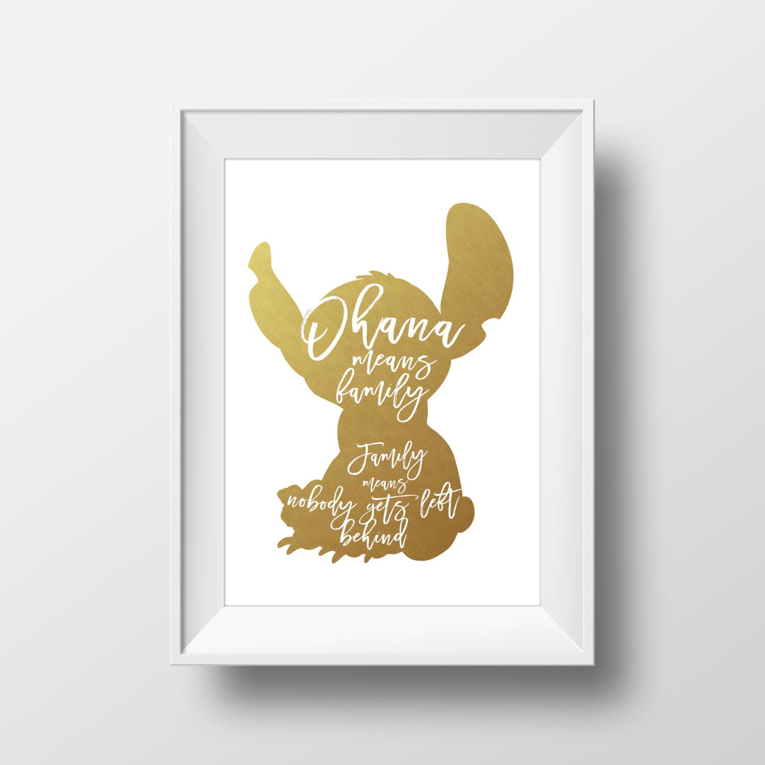 Best ideas about Disney Wall Art . Save or Pin Wall Art Disney Print Stitch GoldLilo and StitchDisney Now.