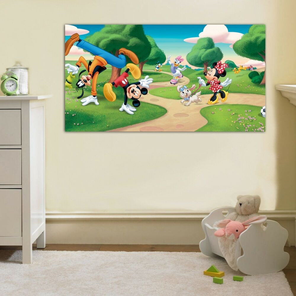 Best ideas about Disney Wall Art . Save or Pin MICKEY MOUSE & FRIENDS Disney Clubhouse CANVAS PRINT Wall Now.