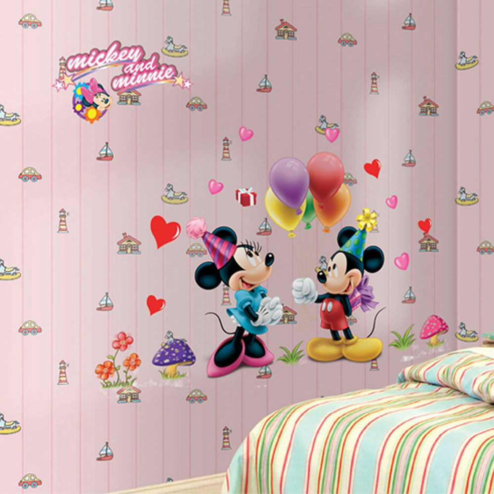 Best ideas about Disney Wall Art . Save or Pin Mickey Minnie Disney Removable Vinyl Wall Decal Stickers Now.