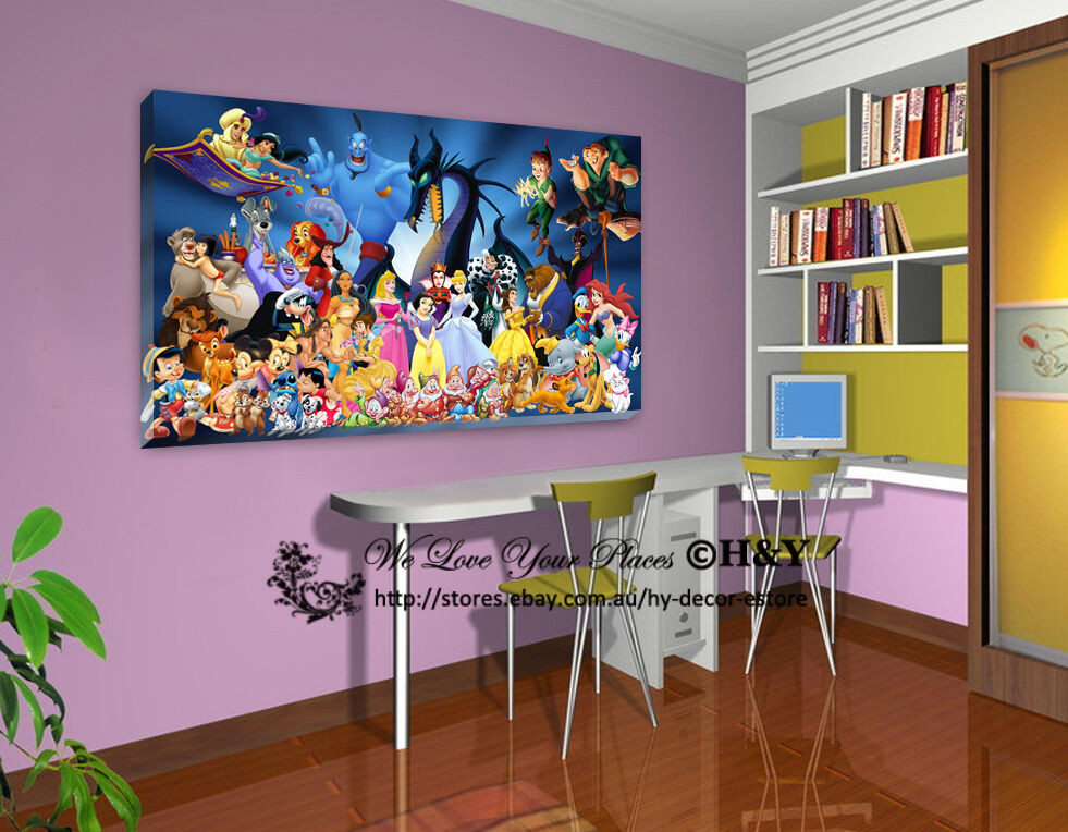 Best ideas about Disney Wall Art . Save or Pin 50x70x3cm Disney Characters Stretched Canvas Prints Wall Now.