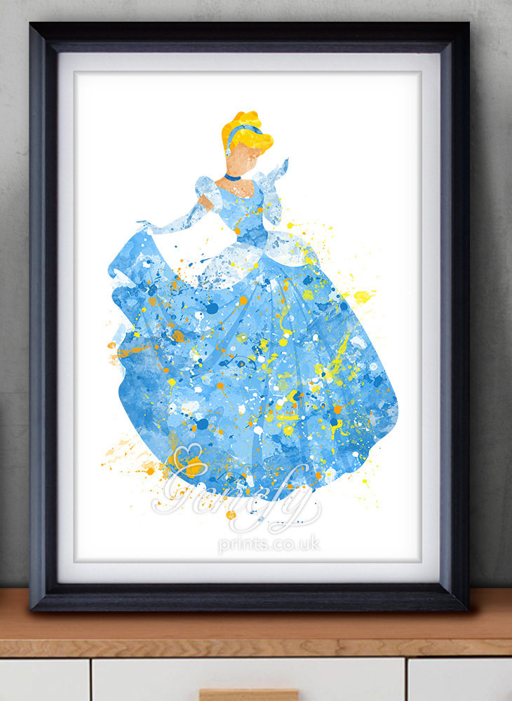 Best ideas about Disney Wall Art . Save or Pin Disney Cinderella Watercolor Poster Print Wall Decor Now.