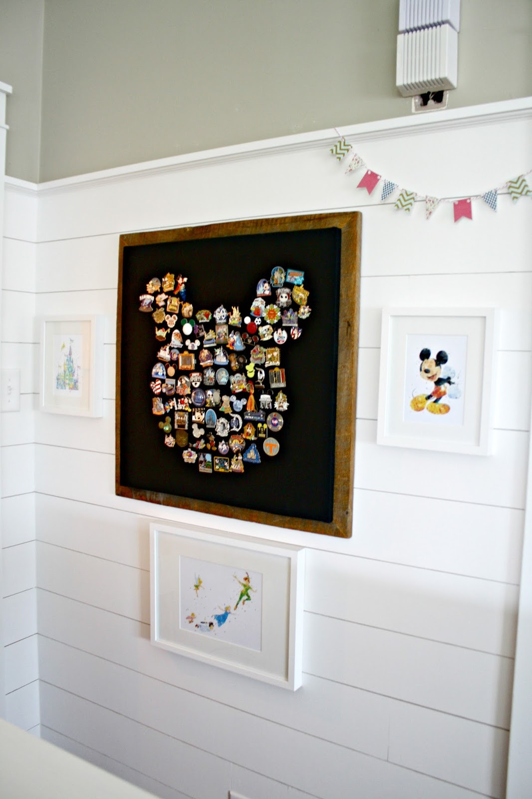 Best ideas about Disney Wall Art . Save or Pin Our fun Disney art wall from Thrifty Decor Chick Now.