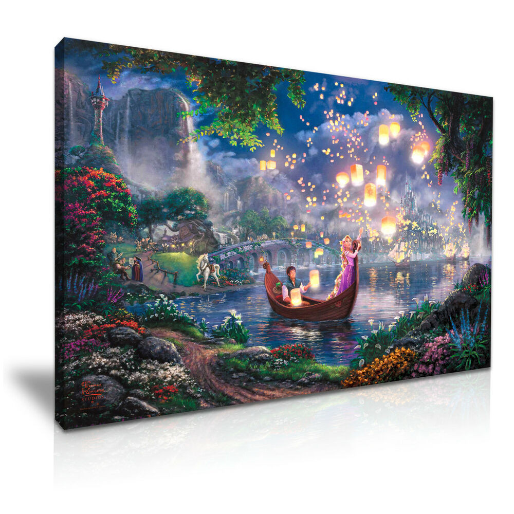 Best ideas about Disney Wall Art . Save or Pin Disney Tangled Kids Canvas Wall Art Picture Print 76x50cm Now.