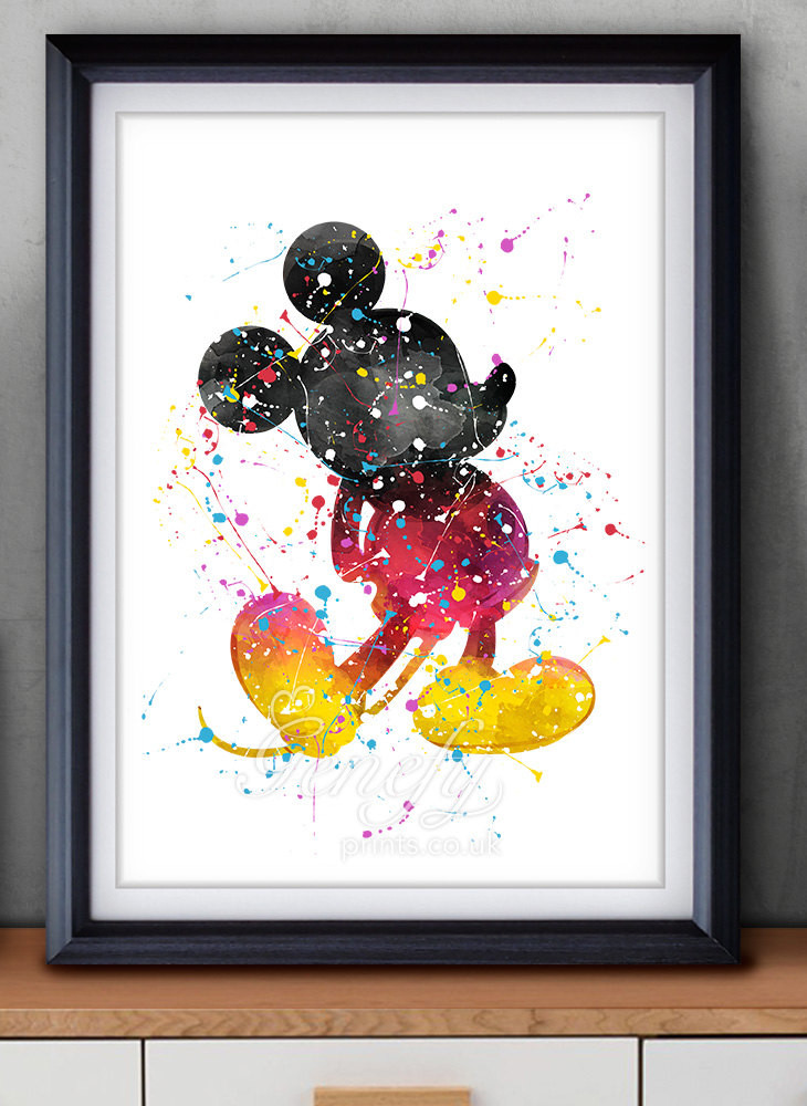 Best ideas about Disney Wall Art . Save or Pin Disney Mickey Mouse Watercolor Art Poster Print Wall Decor Now.
