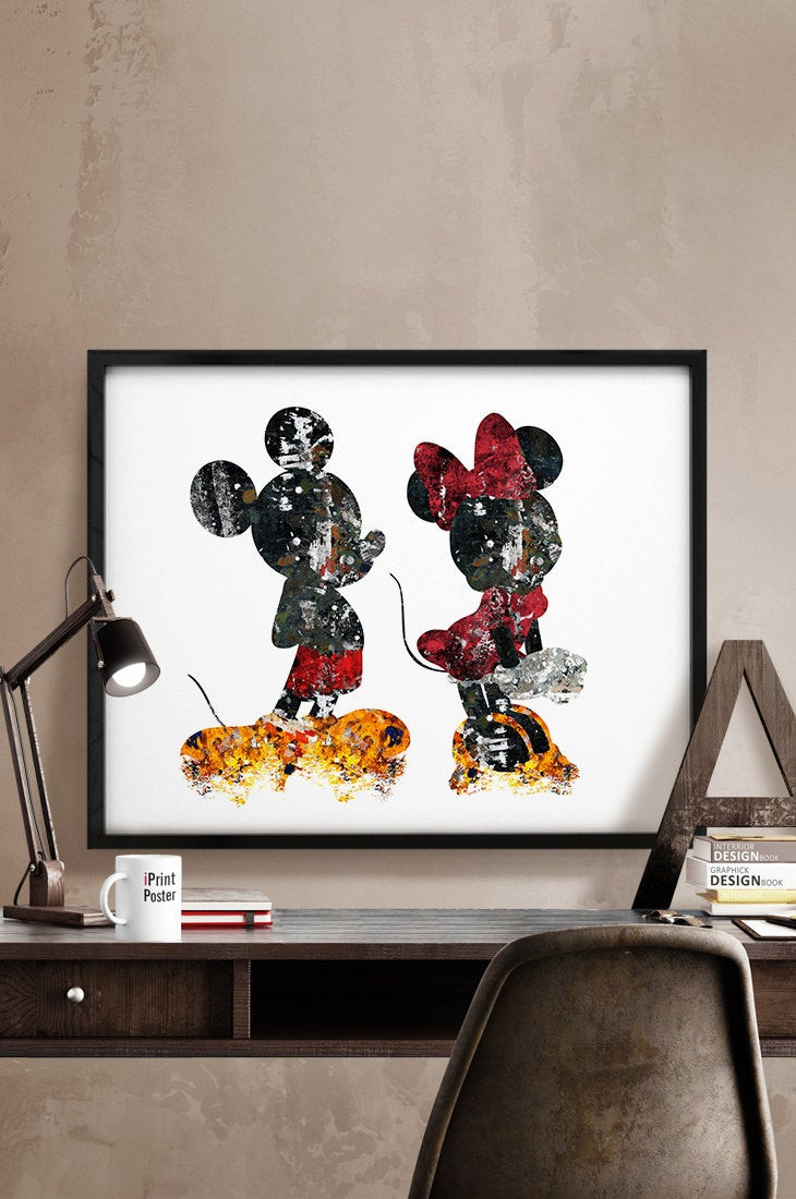 Best ideas about Disney Wall Art . Save or Pin Mickey & Minnie Print Abstract Disney poster by iPrintPoster Now.