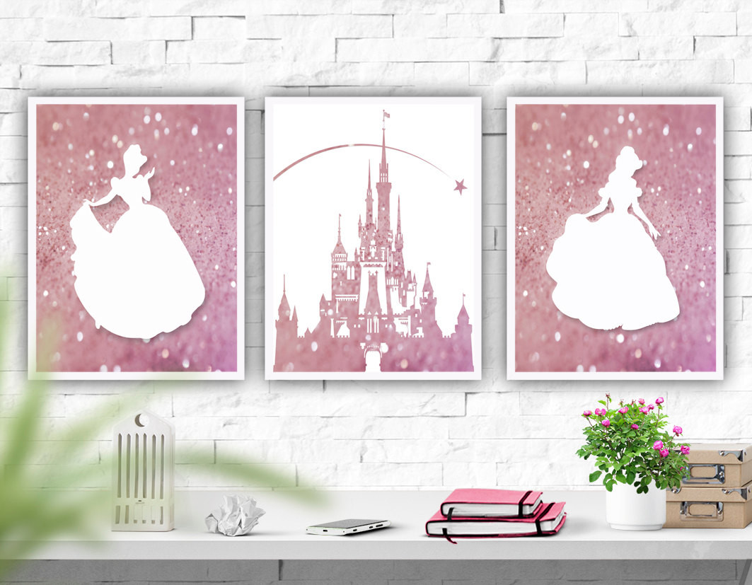 Best ideas about Disney Wall Art . Save or Pin Printable Art Disney Castle Nursery Wall Art Set of 3 Prints Now.
