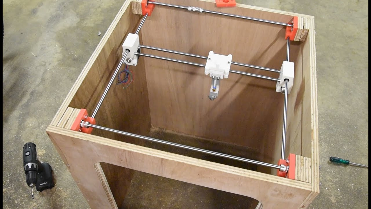 Best ideas about DIY 3D Printer Plans . Save or Pin DIY 3D Printer Build From Scratch Part 4 Assembly Now.