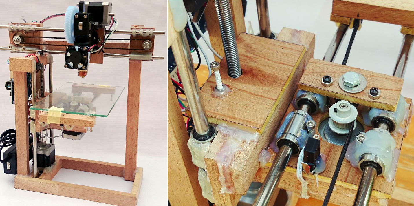 Best ideas about DIY 3D Printer Plans . Save or Pin DIY RepStrap 3D Printer Uses Wood and Glue as Its Primary Now.