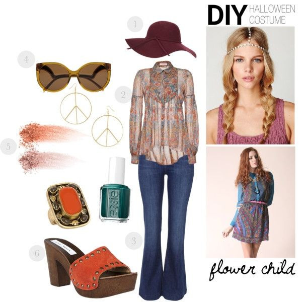 """Best ideas about DIY 70S Costume . Save or Pin """"d i y halloween costume flower child"""" by luxieeee on Now."""