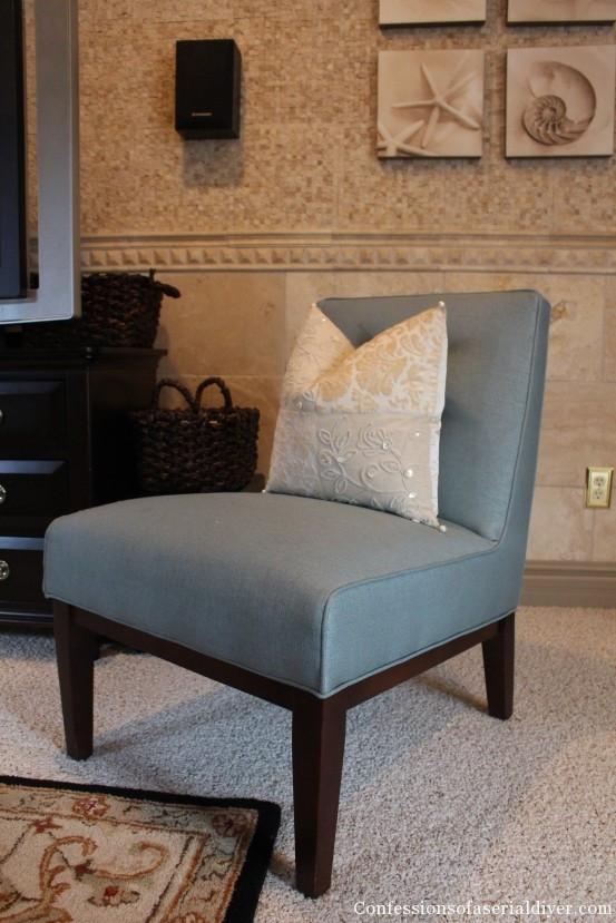 Best ideas about DIY Accent Chair . Save or Pin Slipcovering an Armless Accent Chair Now.