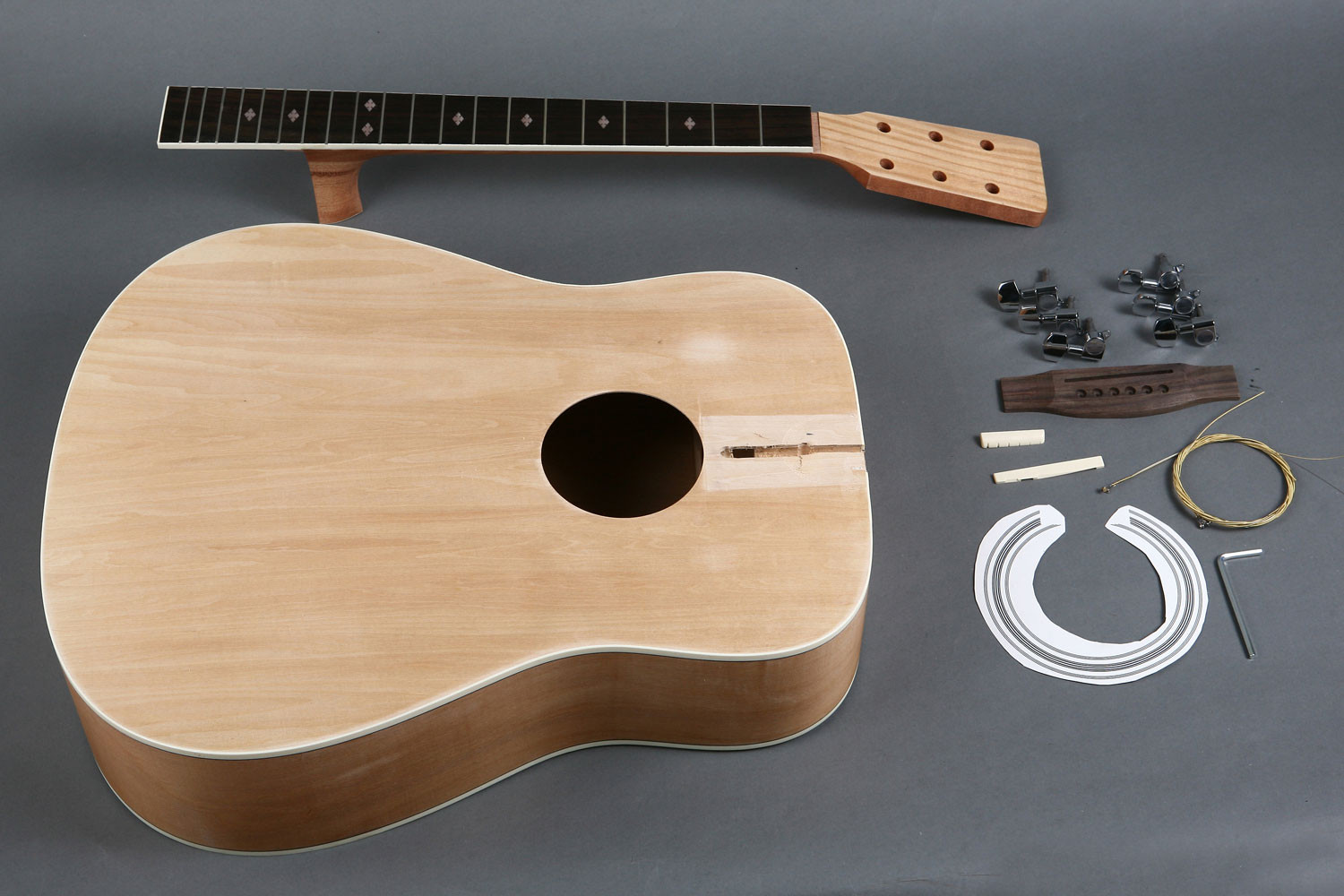 Best ideas about DIY Acoustic Guitar Kits . Save or Pin Unfinished 41' Dreadnought Acoustic Guitar DIY Kit GK Now.