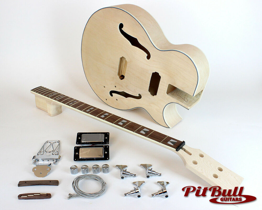 Best ideas about DIY Acoustic Guitar Kits . Save or Pin Pit Bull Guitars ES3 B4 plete DIY Hollow Body Electric Now.