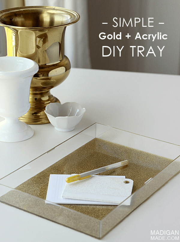 Best ideas about DIY Acrylic Box . Save or Pin Easy DIY Glitter and Acrylic Tray Rosyscription Now.