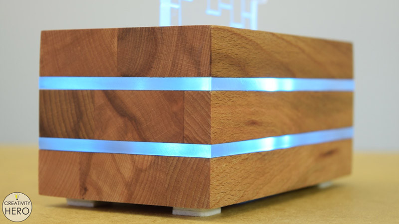 Best ideas about DIY Acrylic Box . Save or Pin DIY Acrylic and Wood Color Changing LED Lamp Creativity Hero Now.