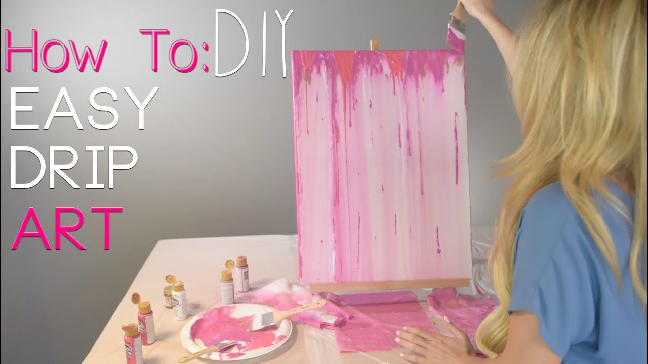 Best ideas about DIY Acrylic Paints . Save or Pin HOW TO Acrylic Drip Painting DIY Now.
