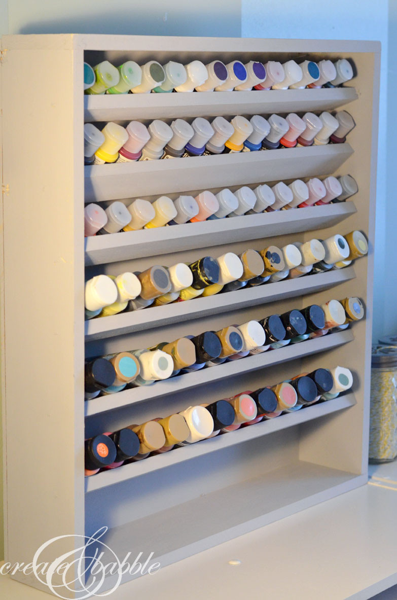 Best ideas about DIY Acrylic Paints . Save or Pin DIY Paint Storage Shelf Create and Babble Now.
