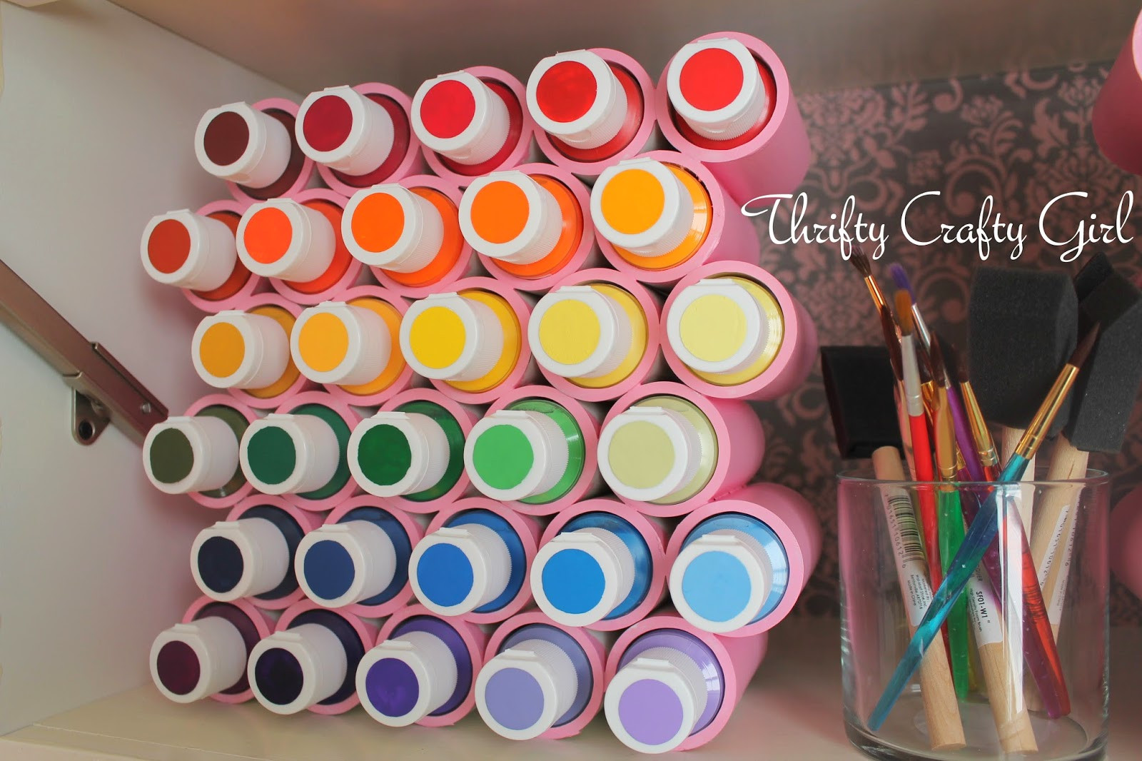 Best ideas about DIY Acrylic Paints . Save or Pin Thrifty Crafty Girl Acrylic Paint Storage Now.