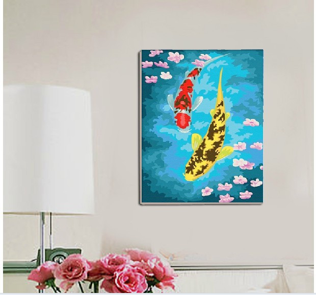 Best ideas about DIY Acrylic Paints . Save or Pin Hand painted DIY digital canvas oil painting DIY Paint By Now.