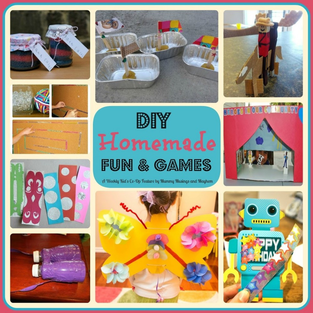 Best ideas about DIY Activities For Kids . Save or Pin Weekly Kid s Co Op DIY Homemade Fun & Games The Now.