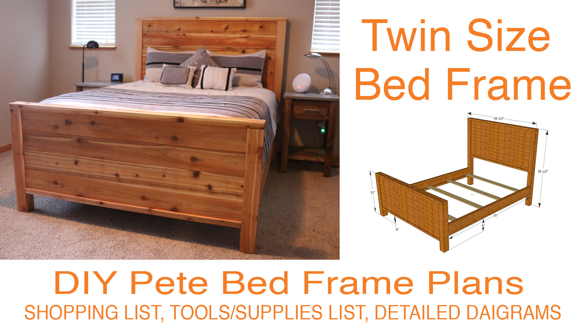 Best ideas about DIY Adjustable Bed . Save or Pin DIY Bed Frame Plans How to Make a bed frame with DIY Pete Now.