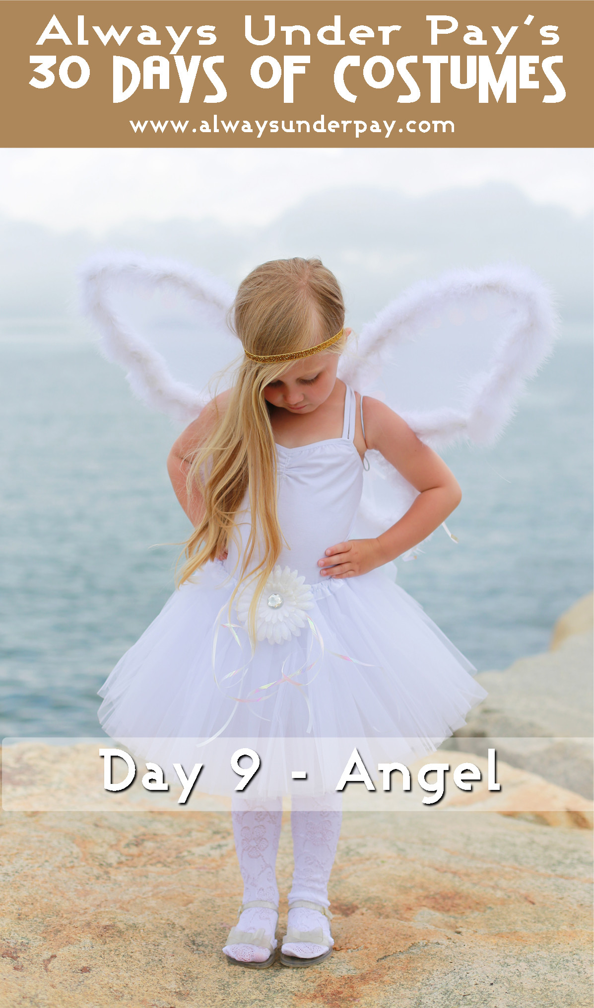 Best ideas about DIY Angel Costume . Save or Pin Day 9 – Angel DIY Halloween Costume Tutorial Cheap Easy Now.