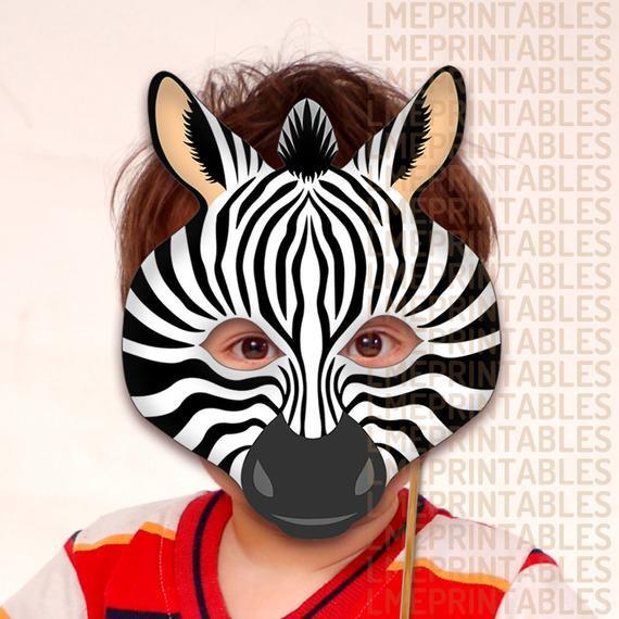 Best ideas about DIY Animal Mask . Save or Pin Zebra Printable Mask DIY Safari Jungle Black Animals Masks Now.