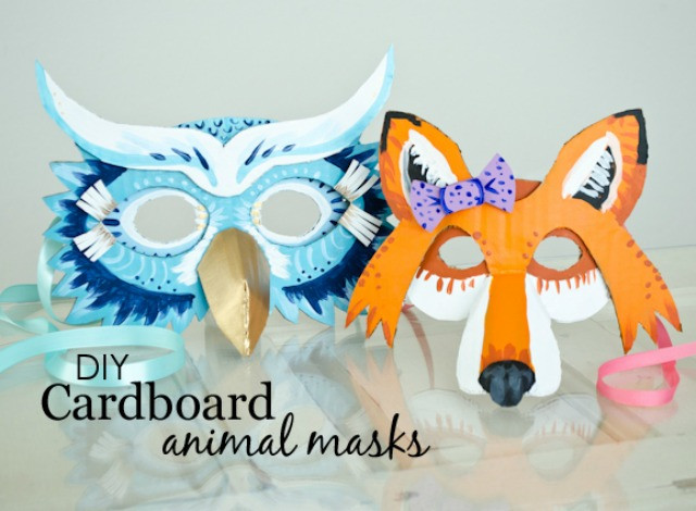 Best ideas about DIY Animal Mask . Save or Pin DIY Cardboard Animal Masks for Halloween Project Nursery Now.