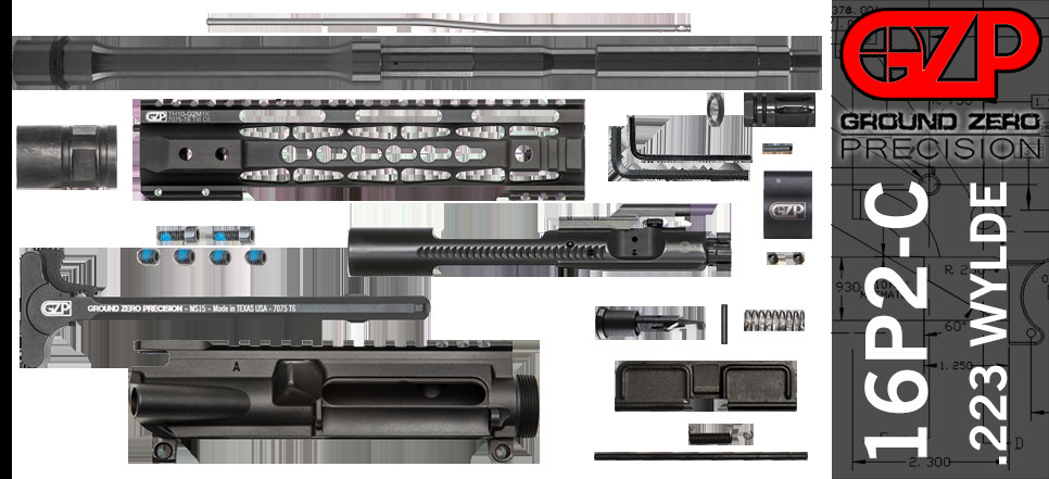 """Best ideas about DIY Ar 15 Kit . Save or Pin DIY 16"""" 223 Wylde AR 15 Free Float Upper Receiver Kit Now."""