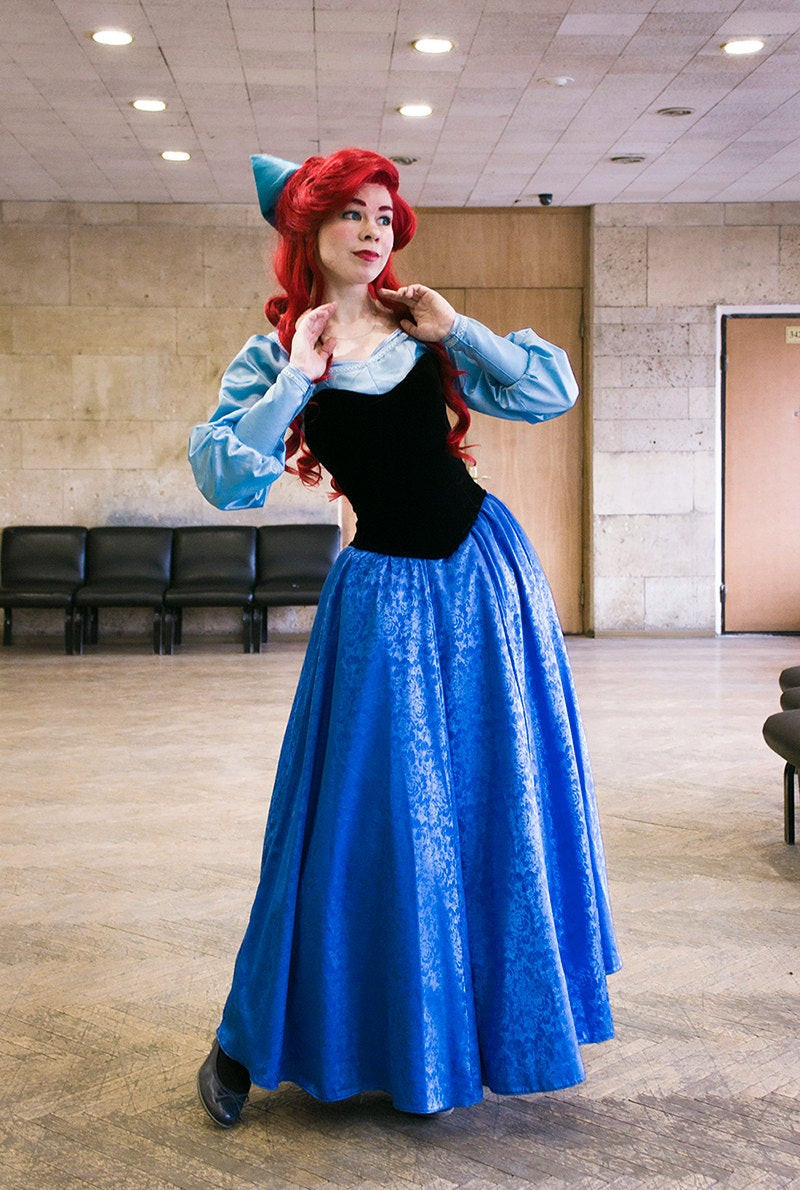 Best ideas about DIY Ariel Costume For Adults . Save or Pin Ariel blue dress Cosplay Disney Princess Halloween costume for Now.