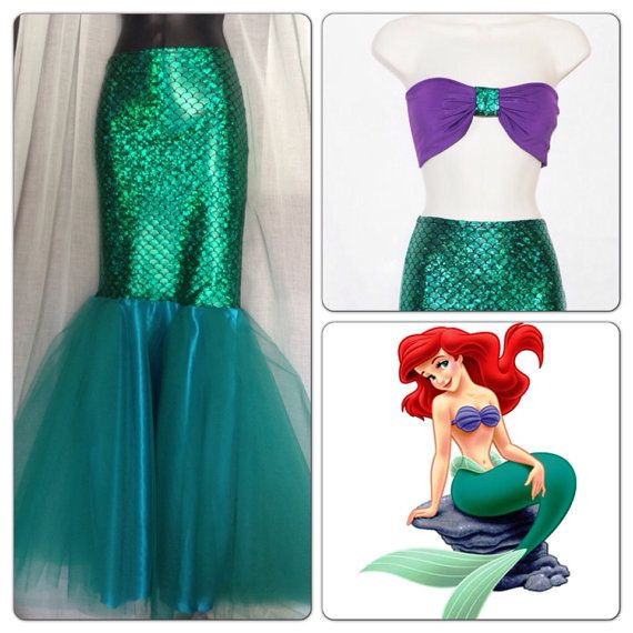 Best ideas about DIY Ariel Costume For Adults . Save or Pin LITTLE MERMAID Full Mermaid Tail Birthday by Now.