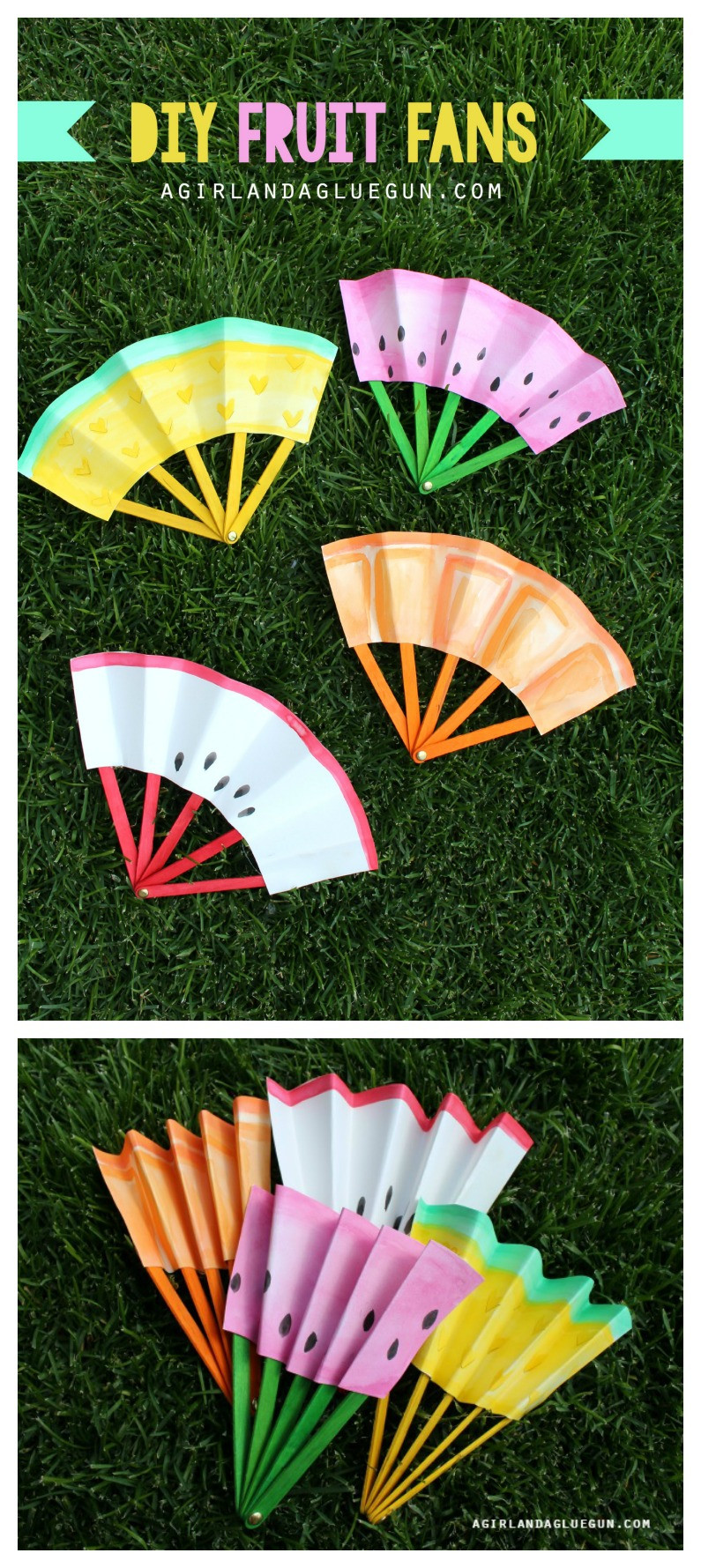 Best ideas about DIY Art And Craft For Kids . Save or Pin DIY Fruit Fans Kids Craft The Idea Room Now.