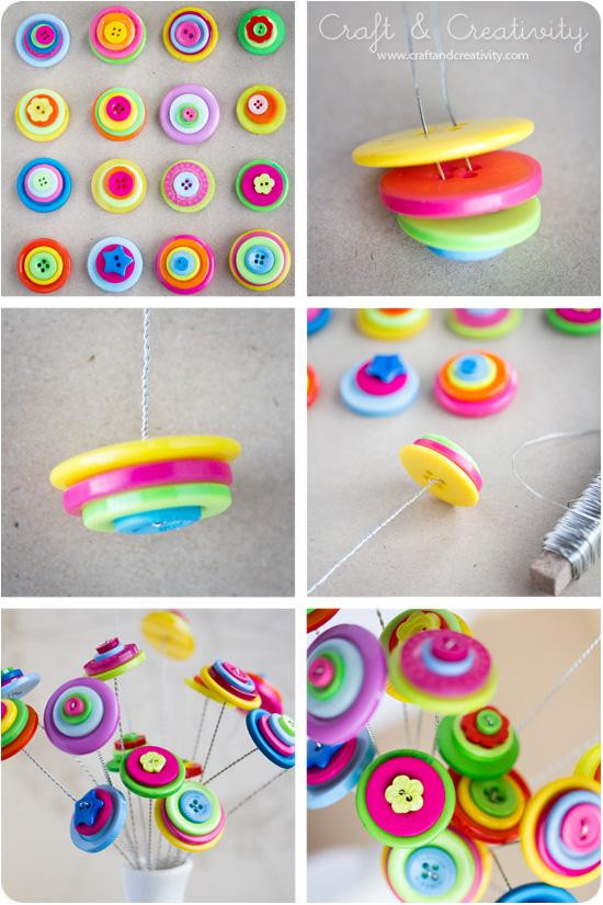 Best ideas about DIY Art And Craft For Kids . Save or Pin 23 Easy To Make and Extremely Creative Button Crafts Tutorials Now.