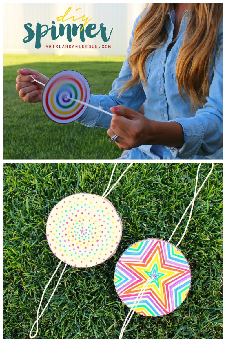 Best ideas about DIY Art And Craft For Kids . Save or Pin DIY Paper Spinner for Endless Fun Now.